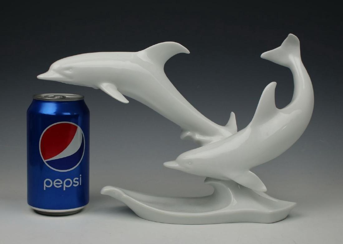 "Kaiser Porcelain figurine ""Two Dolphins"" - 10"