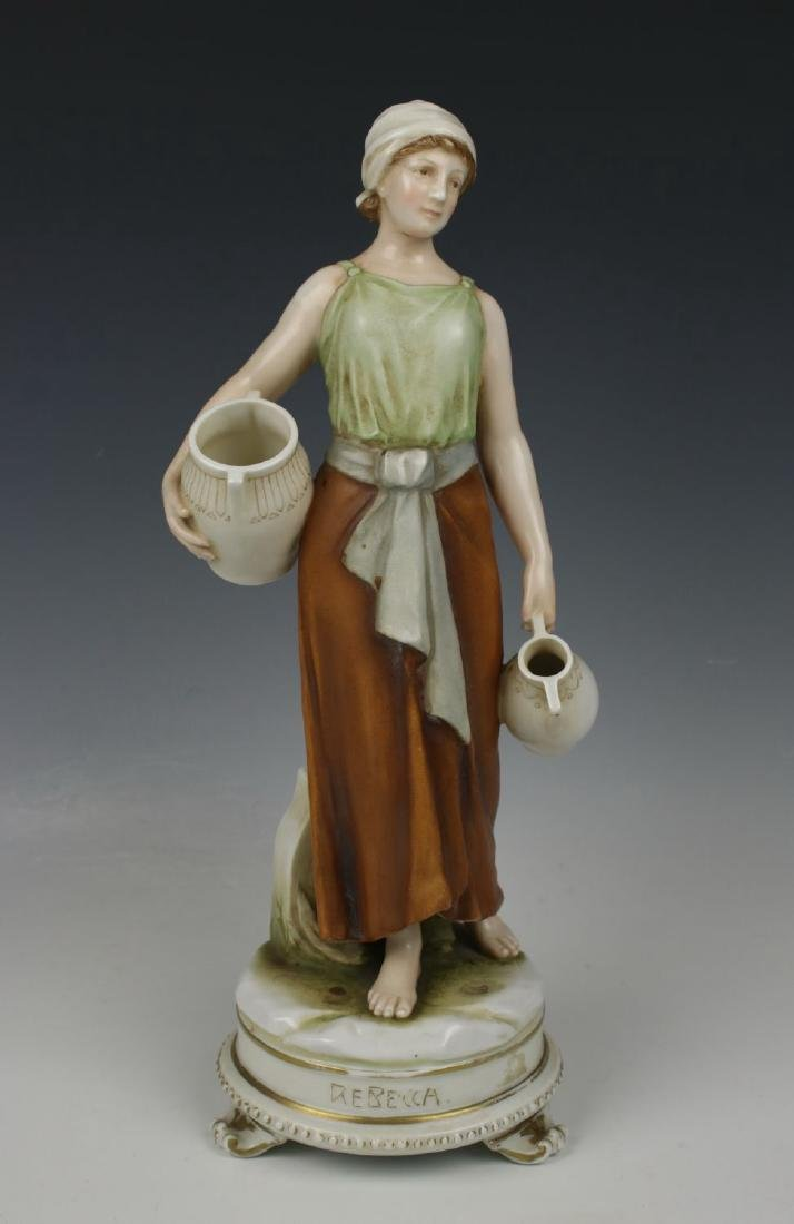 "Early Karl Ens figurine ""Rebecca at the Well"""