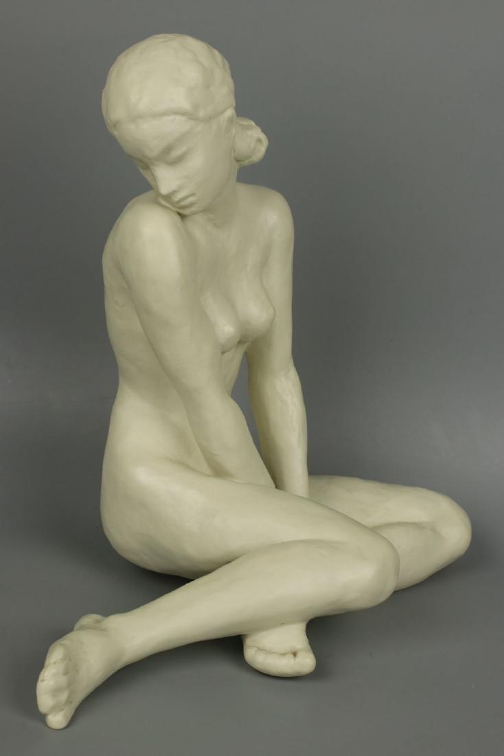 """Rosenthal Fritz Klimsch Figurine  """"Sitting Girl"""" - 3"""