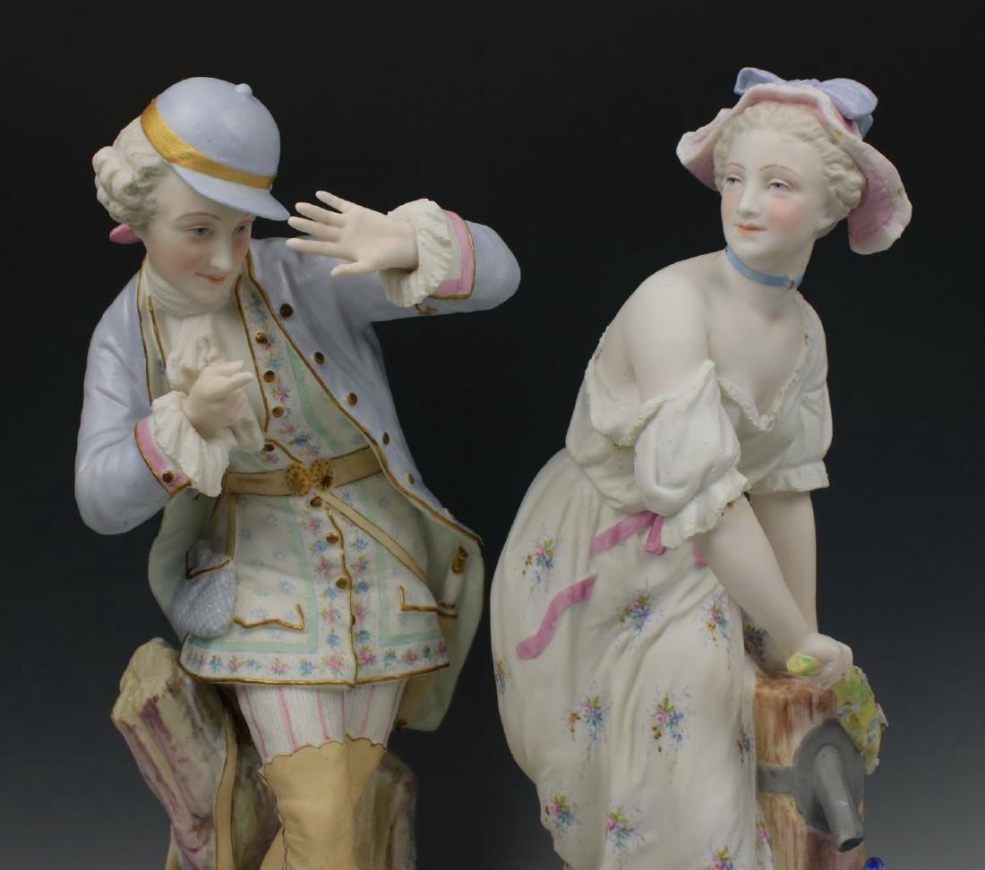 "19C Vion & Baury figurines ""Noble Hunter & Peasant - 2"