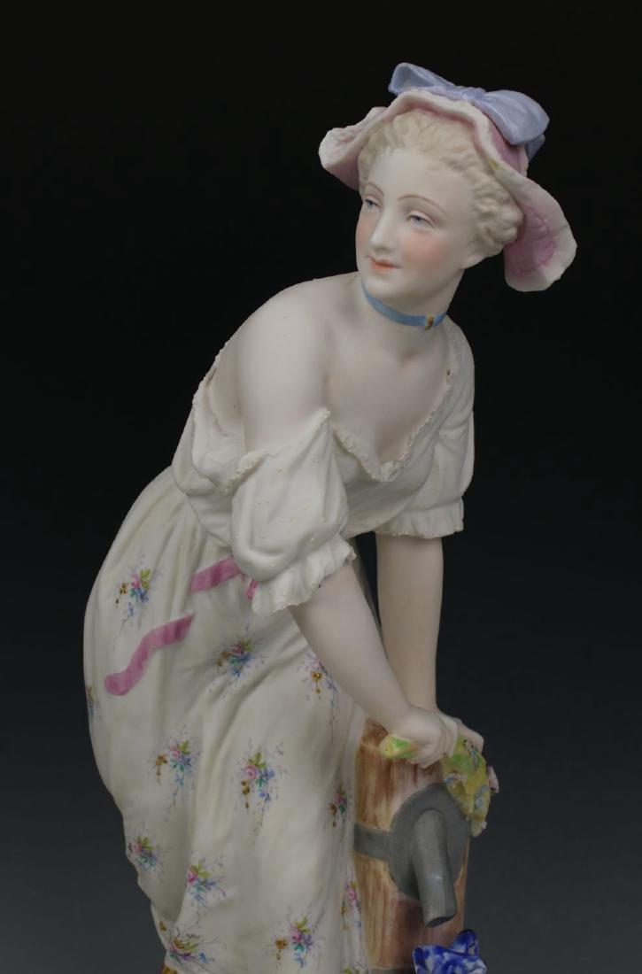 "19C Vion & Baury figurines ""Noble Hunter & Peasant - 6"