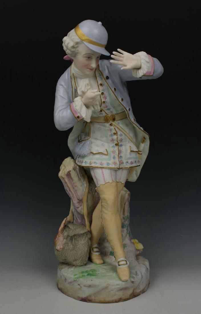 "19C Vion & Baury figurines ""Noble Hunter & Peasant - 7"