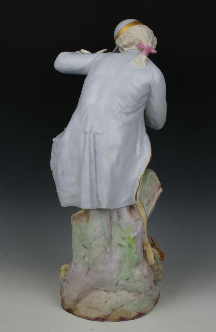 "19C Vion & Baury figurines ""Noble Hunter & Peasant - 8"