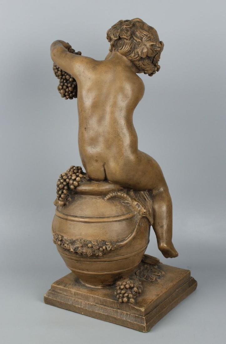 "19c French terracotta figurine Fagotto ""Young Bacchus"" - 3"