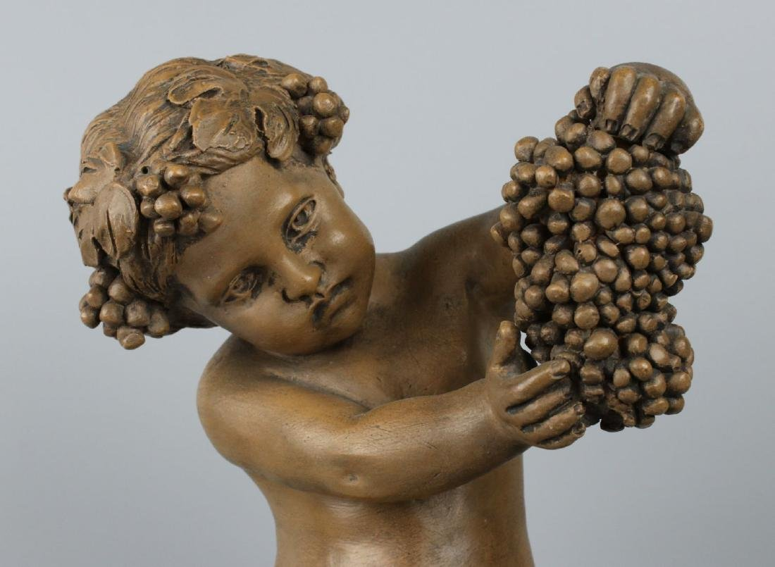 "19c French terracotta figurine Fagotto ""Young Bacchus"" - 7"