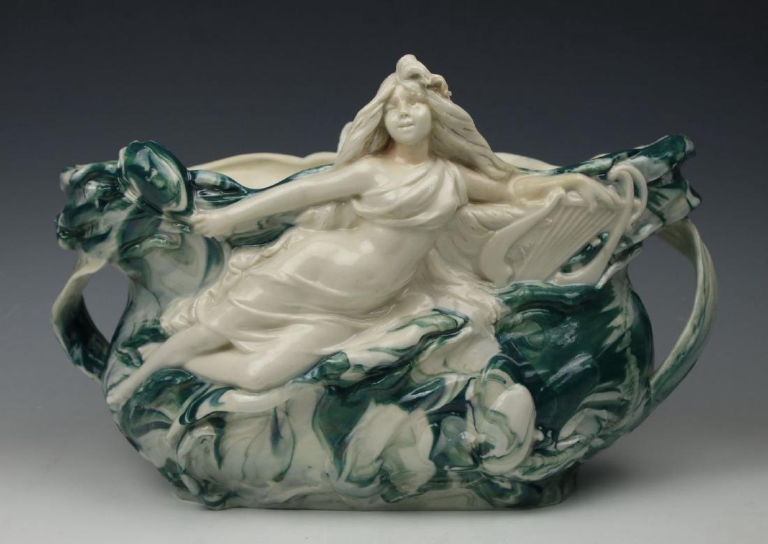 Royal Dux Art Nouveau Figurine Jardeniere