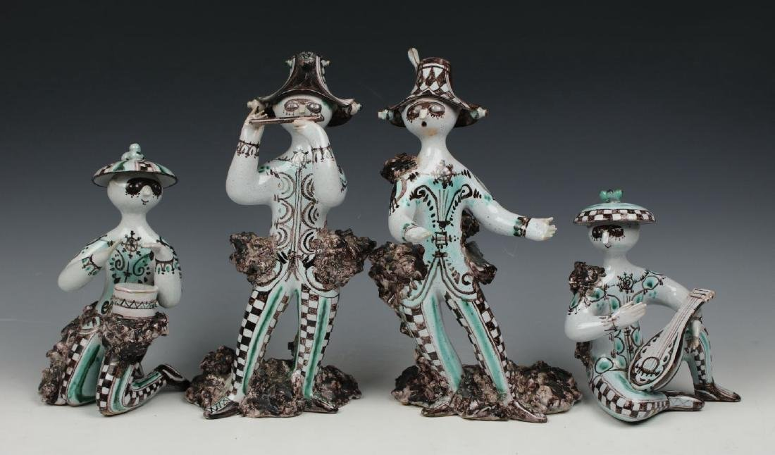 "Bjorn Wiinblad 4 figurines set ""Troubadours"""