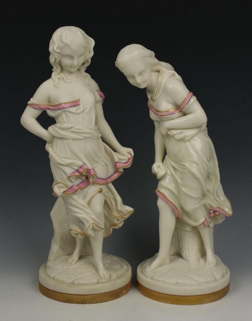 "Royal Worcester Hadley figurines ""Before & Against"