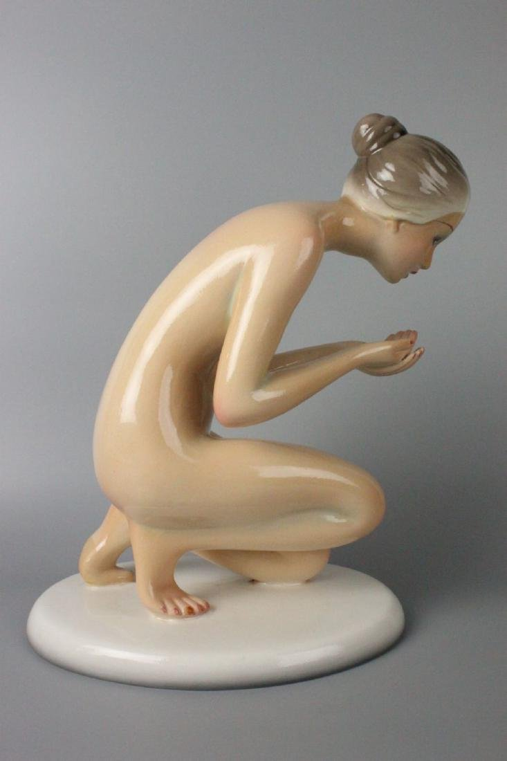 Capodimonte Ronzan Figurine Woman Drinking - 10