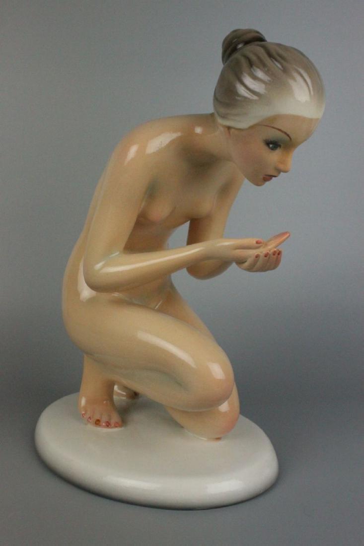 Capodimonte Ronzan Figurine Woman Drinking - 3