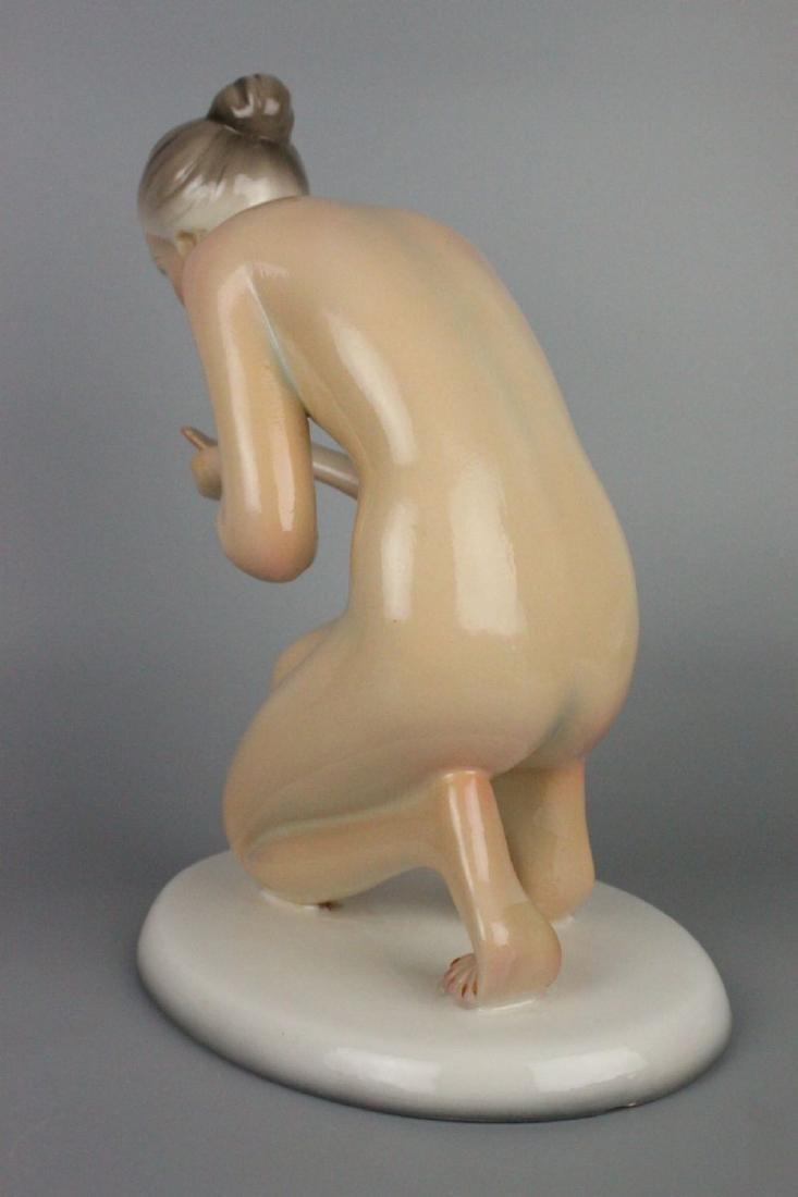 Capodimonte Ronzan Figurine Woman Drinking - 5