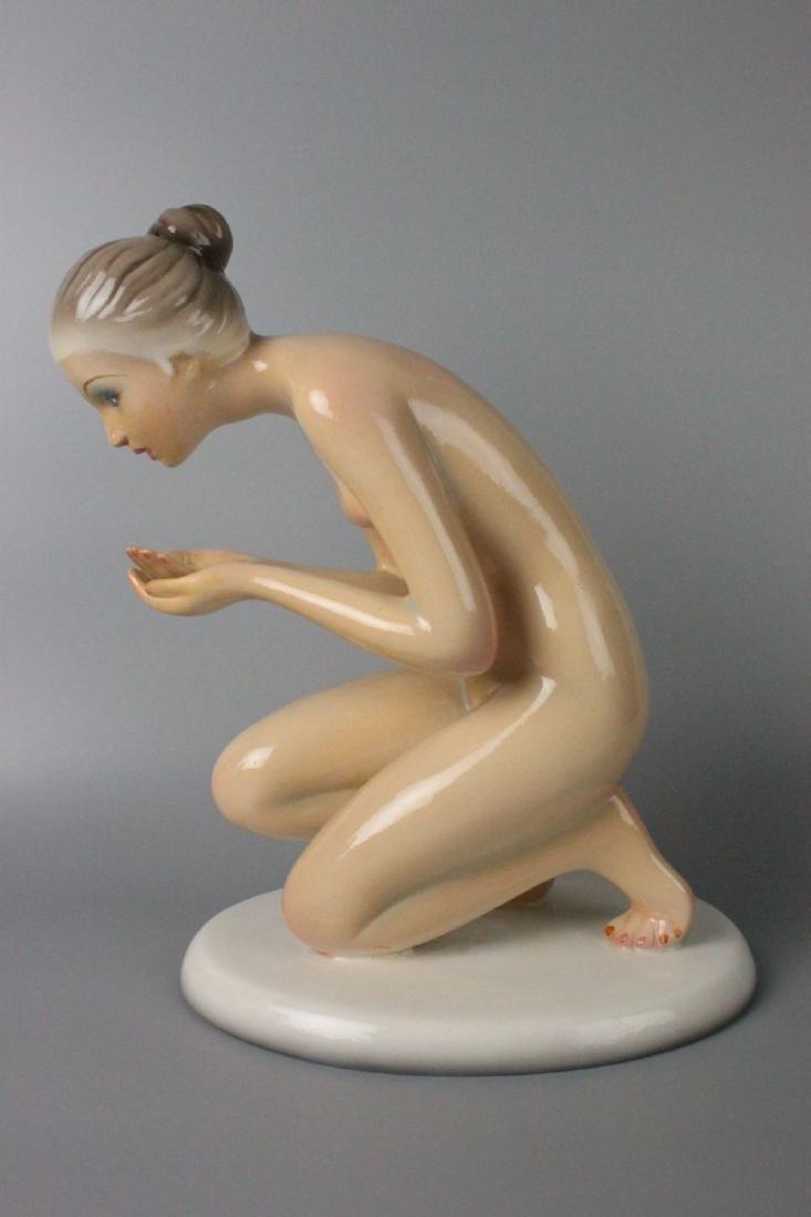 Capodimonte Ronzan Figurine Woman Drinking - 9