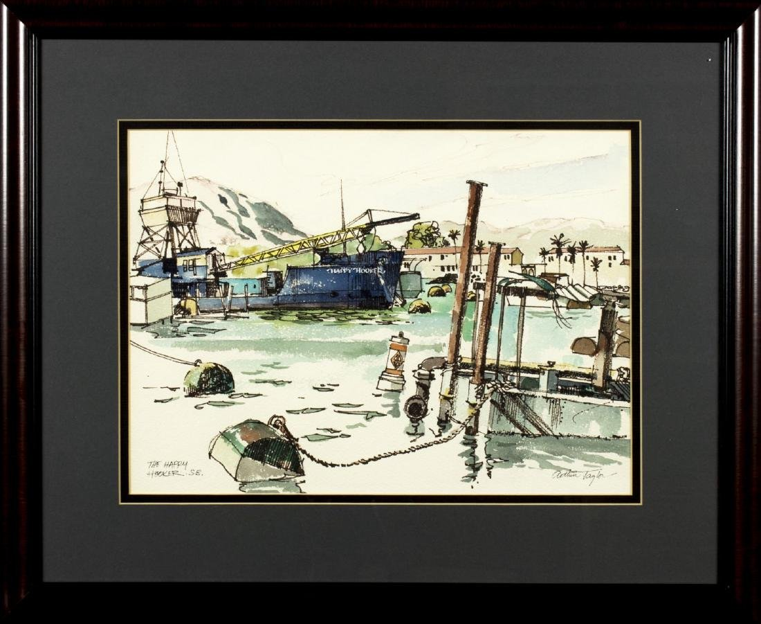 Arthur Taylor (CA,20th century) watercolor on paper