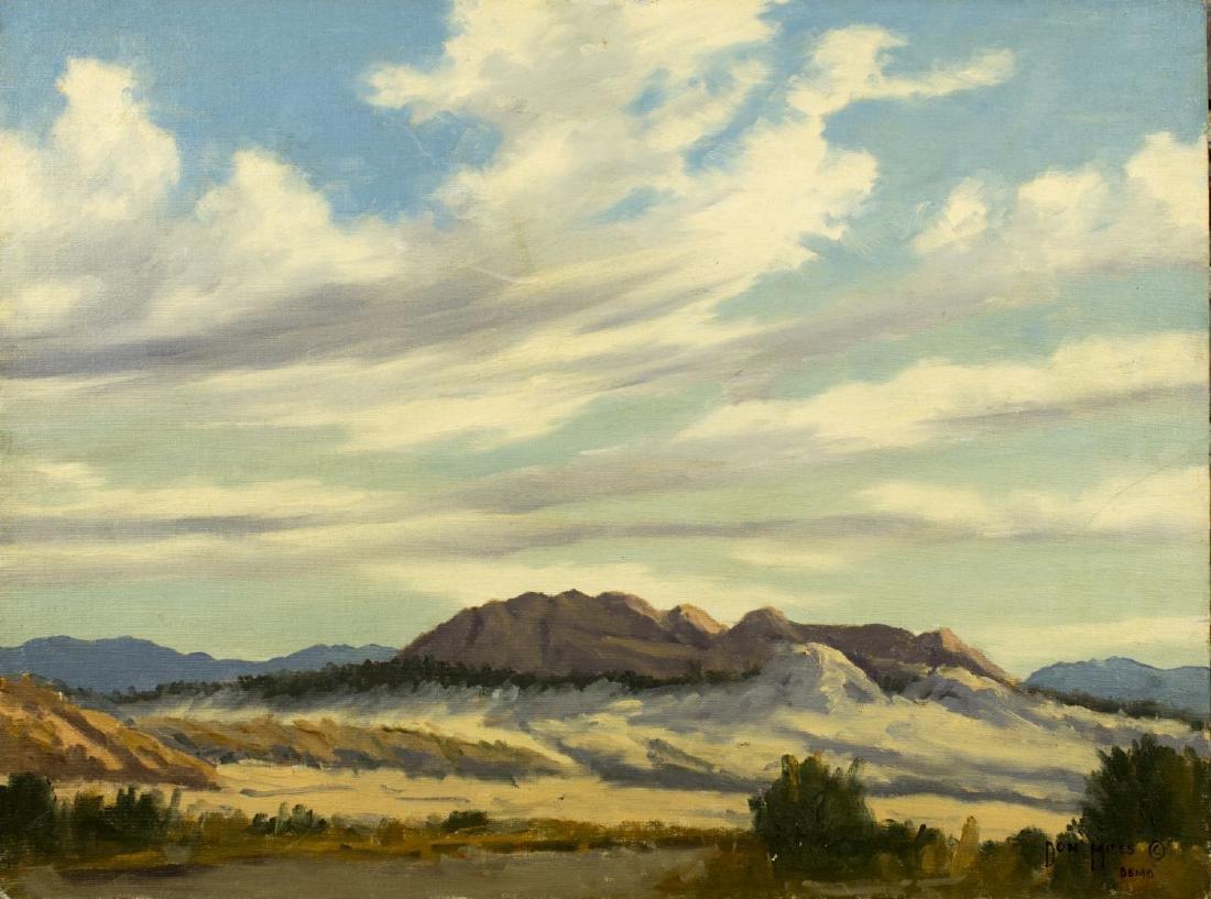 Don Miles (CA, NE,1912-1990) oil on board