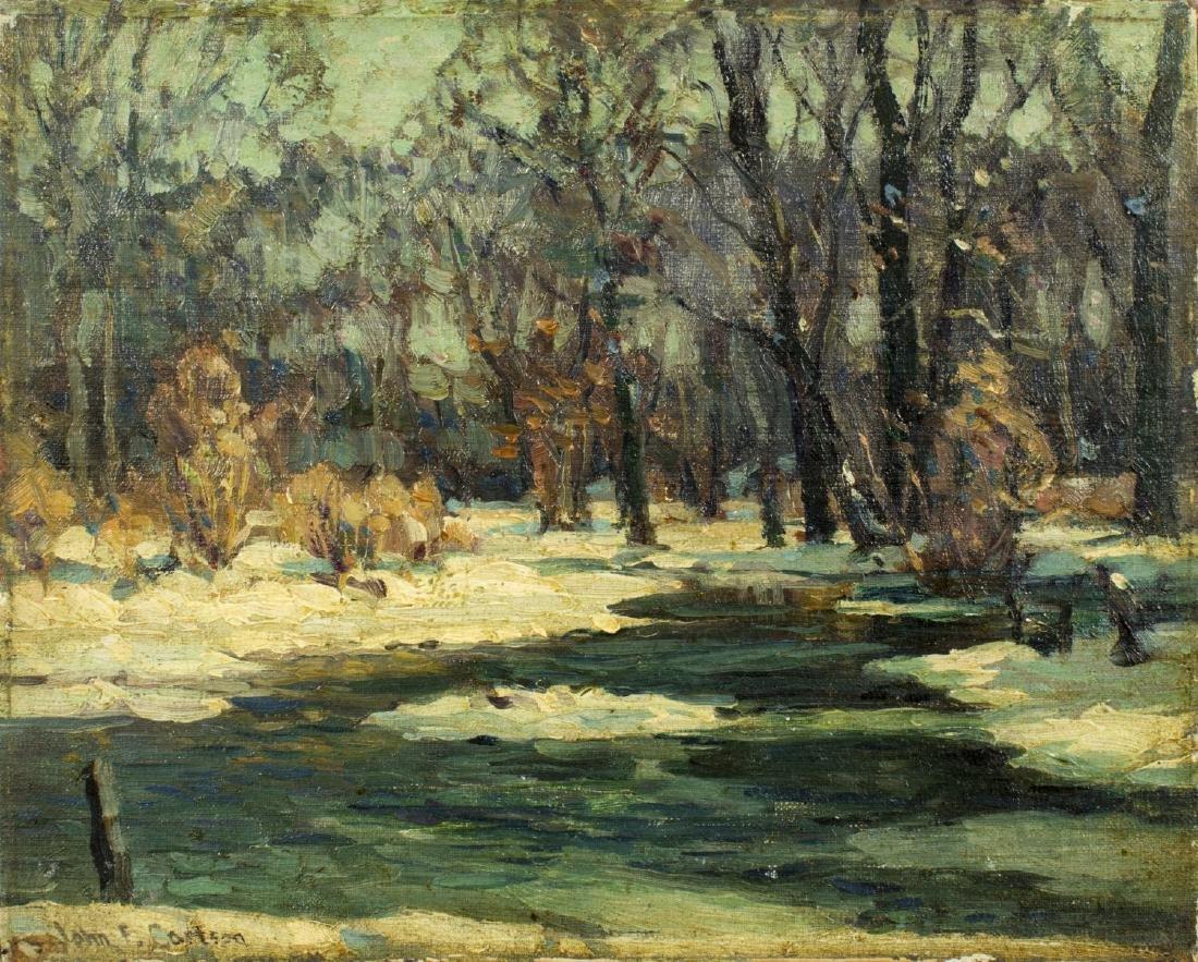 John Fabian Carlson (NY,CO,Sweden,1874-1945) oil on