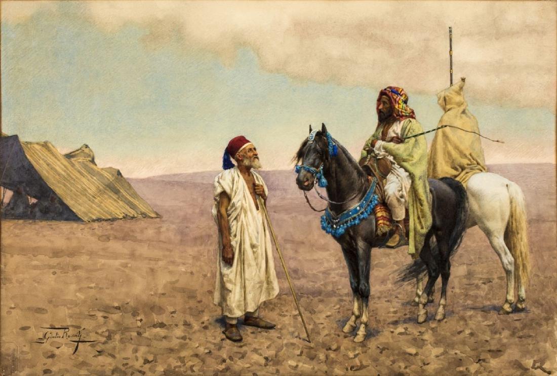 Giulio Rosati (Italy,1858-1917) watercolor on paper