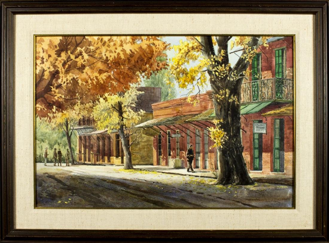 James Kramer (NM,OH,born 1927) watercolor on paper