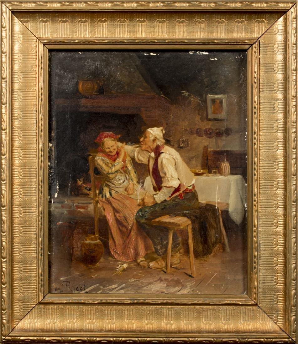 Ezio Ricci (Italy,1885-1968) oil on canvas