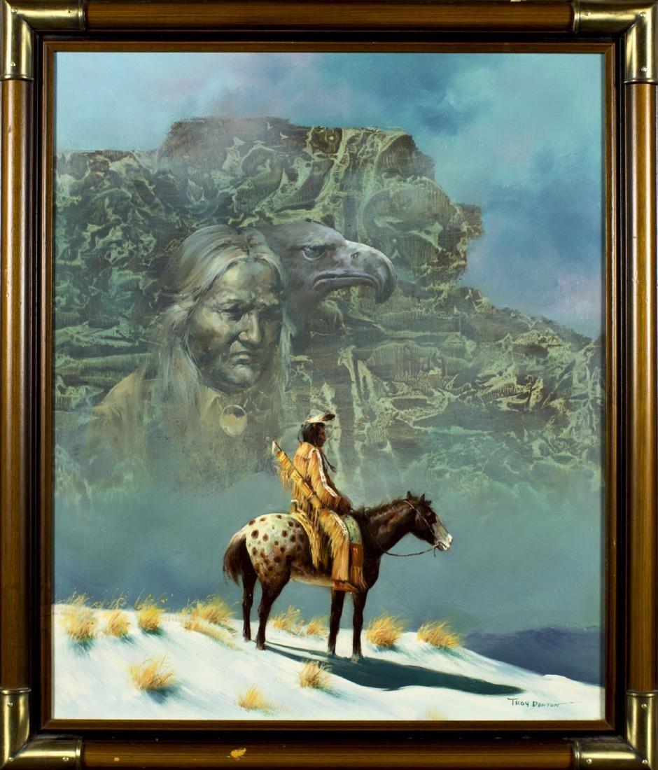 Troy Denton (US,born 1949) oil on canvas