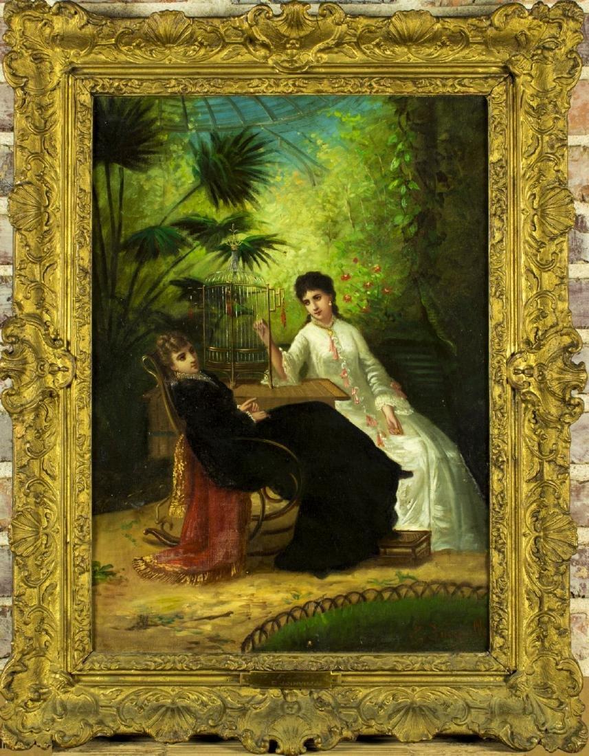 Eliza De Joinville (France,19C) oil on canvas