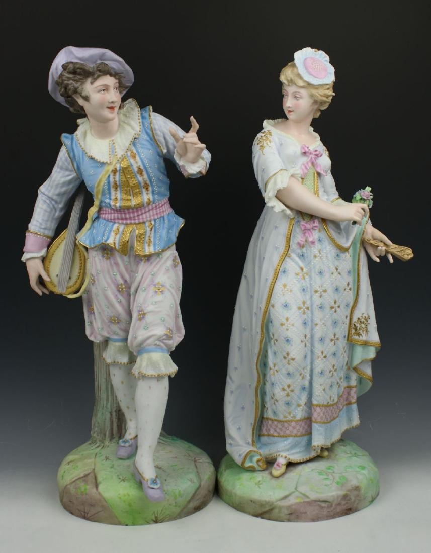 19C Vion & Baury porcelain figurines