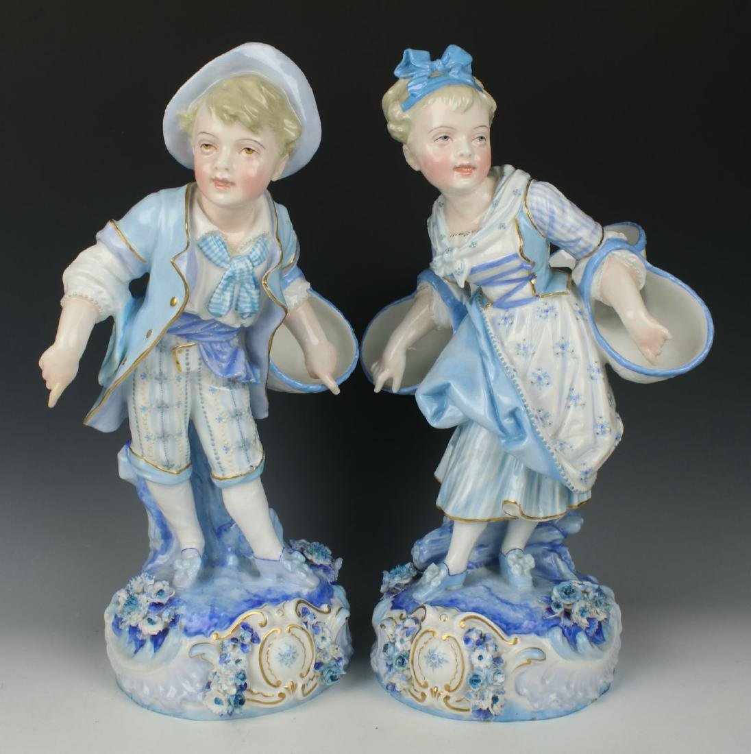 19C french Levy & Cie pair of figurines