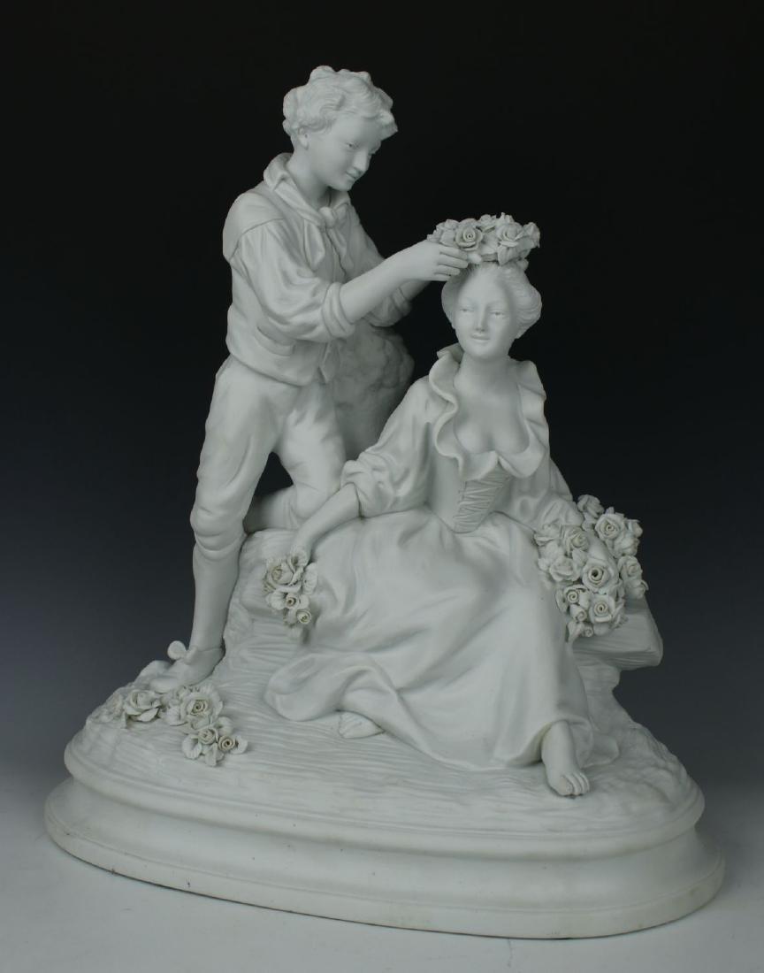 "Joseph d'Aste (French) parian figurine ""The Coronation"""