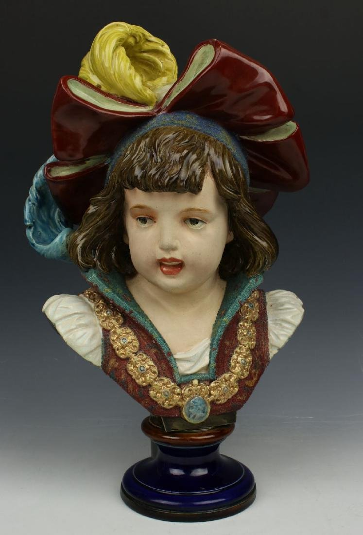 "French terracotta figurine ""Bust of Boy"""