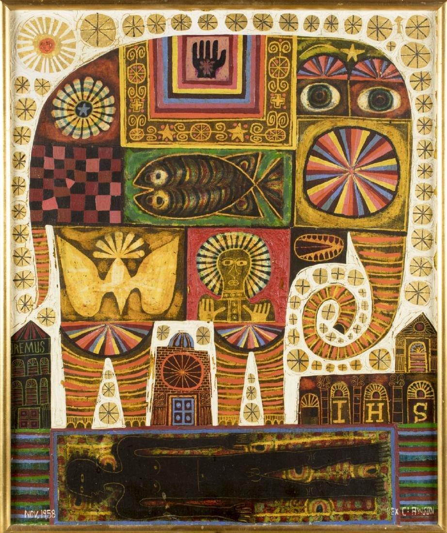 Rex Clawson (New York, 1929-2007) oil on board