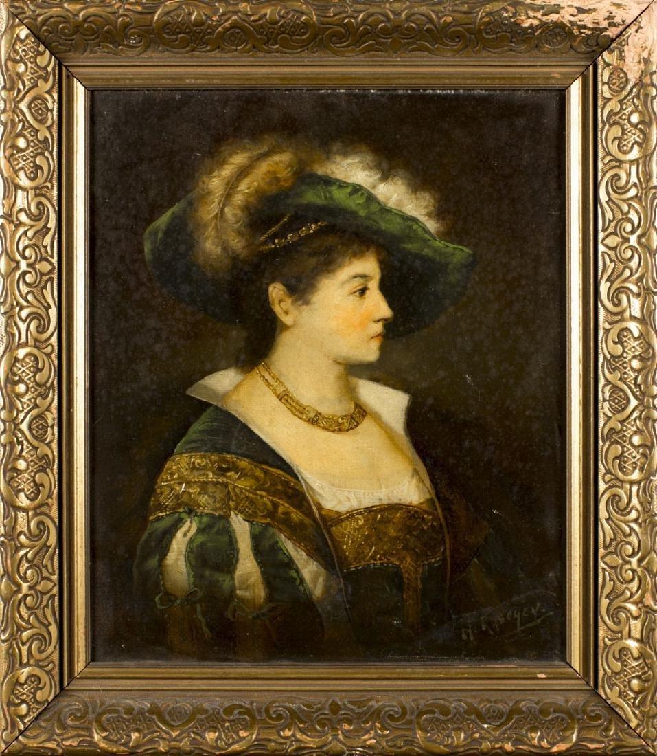 Henry Raschen (California, 1854-1937) oil on canvas