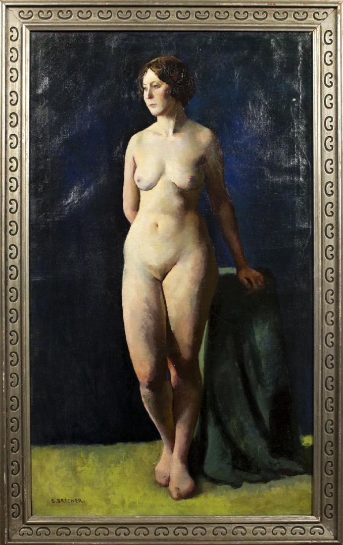 Samuel Brecher (NY,1897-1982) oil on canvas