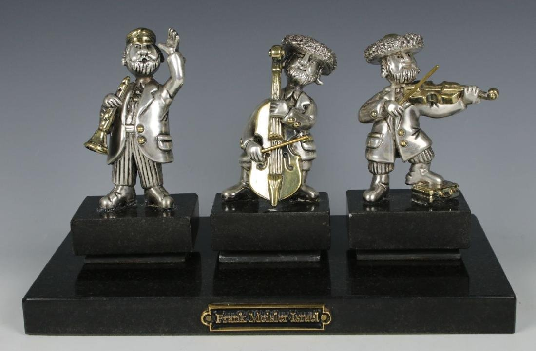 "Frank Meisler 925 Sterling Figurines ""Chassidic Band"""
