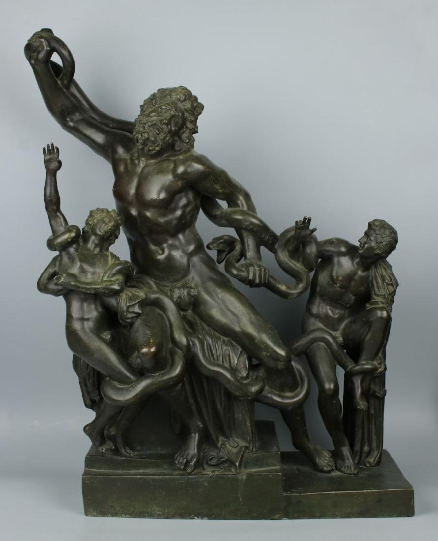 """Antique Large 23"""" Bronze """"Laocoon and His Sons"""""""