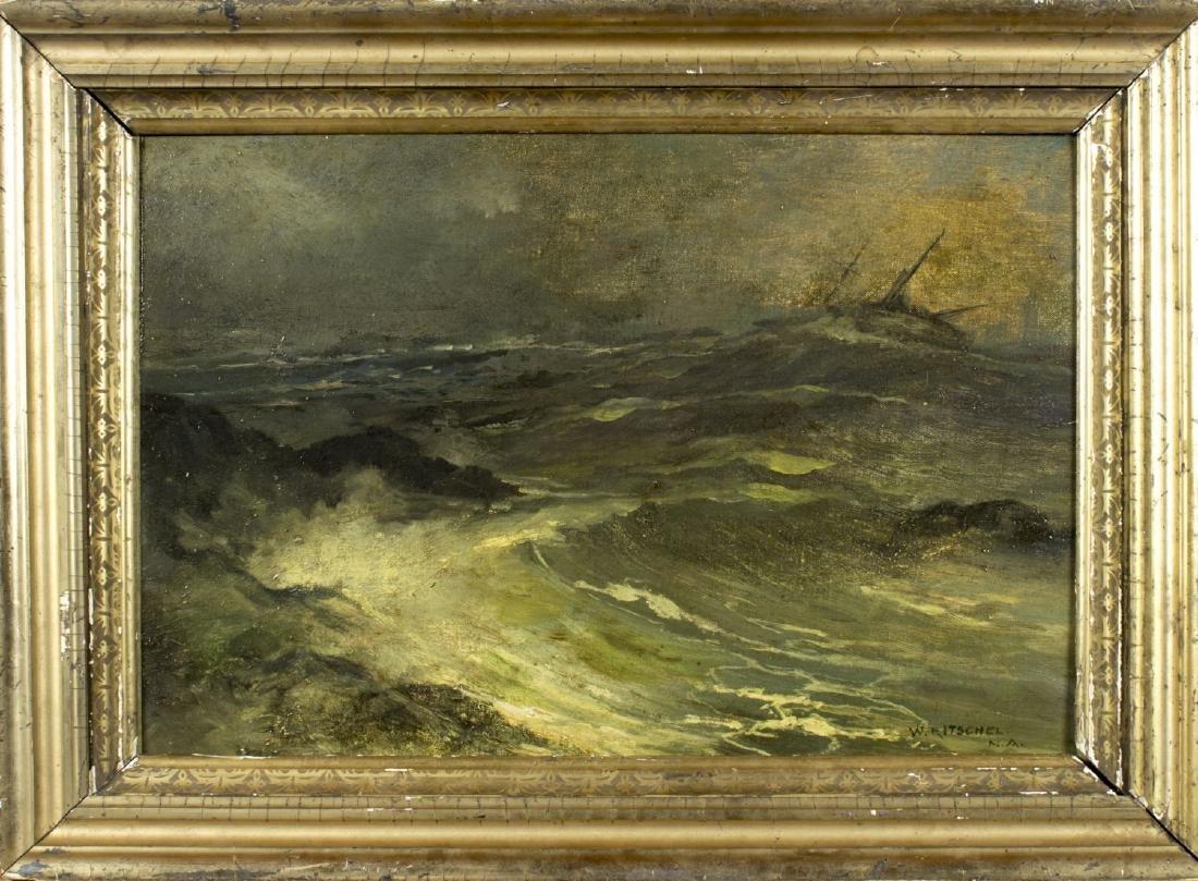 William Ritschel (NY,CA,Germany,1864-1949) oil on board