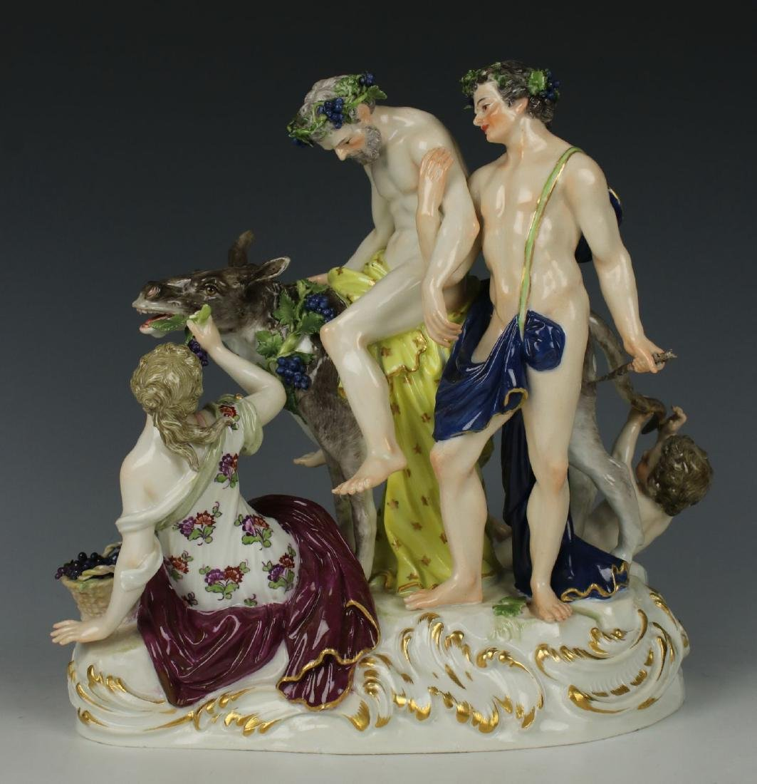 "Meissen Figurine ""Silenus on Donkey"""