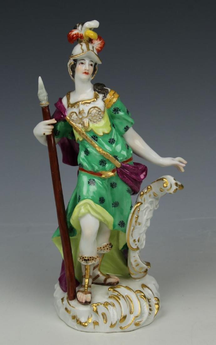 "Rare Meissen Figurine ""Minerva"""