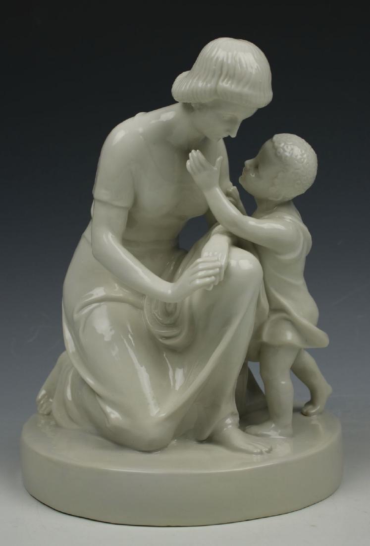 """Schwarzburger Figurine """"Mother with Child"""""""
