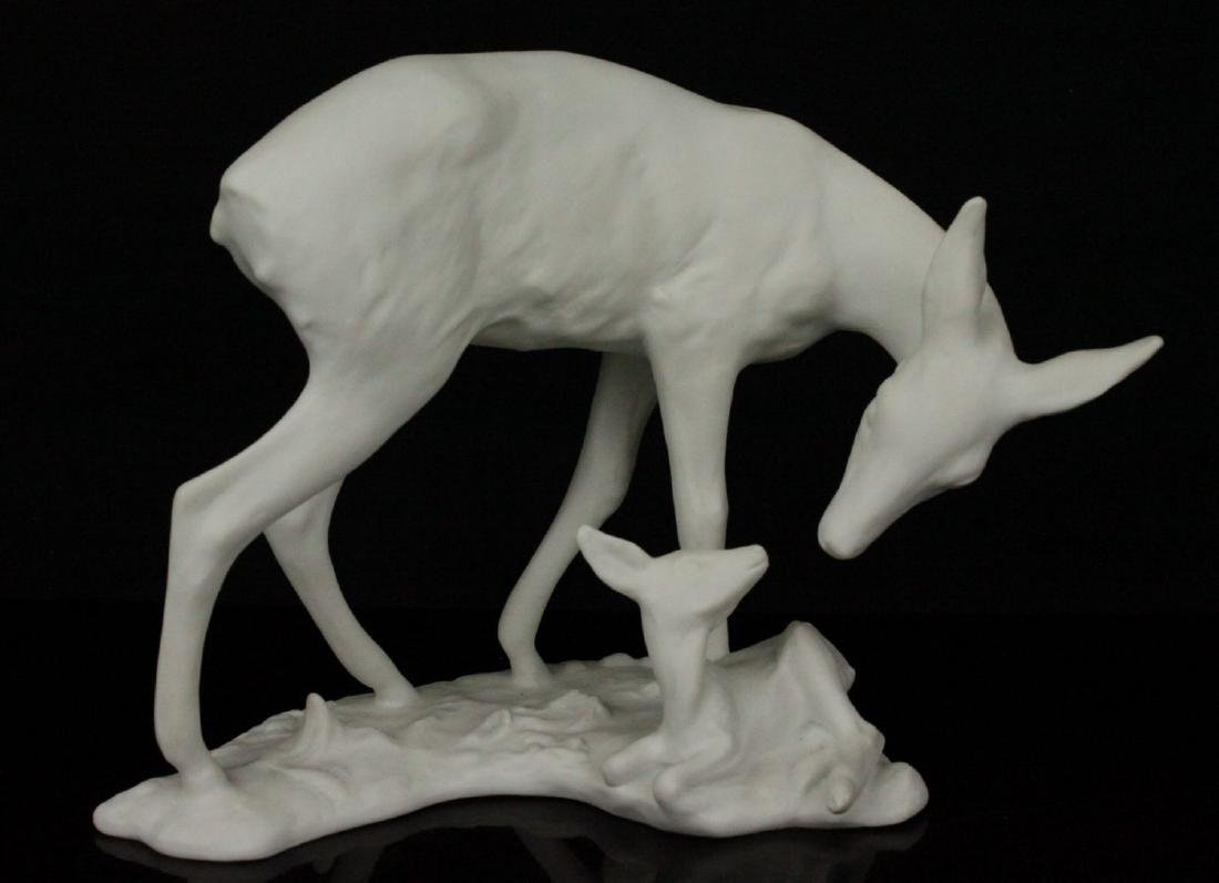 "Kaiser Porcelain figurine ""Doe with Fawn"""