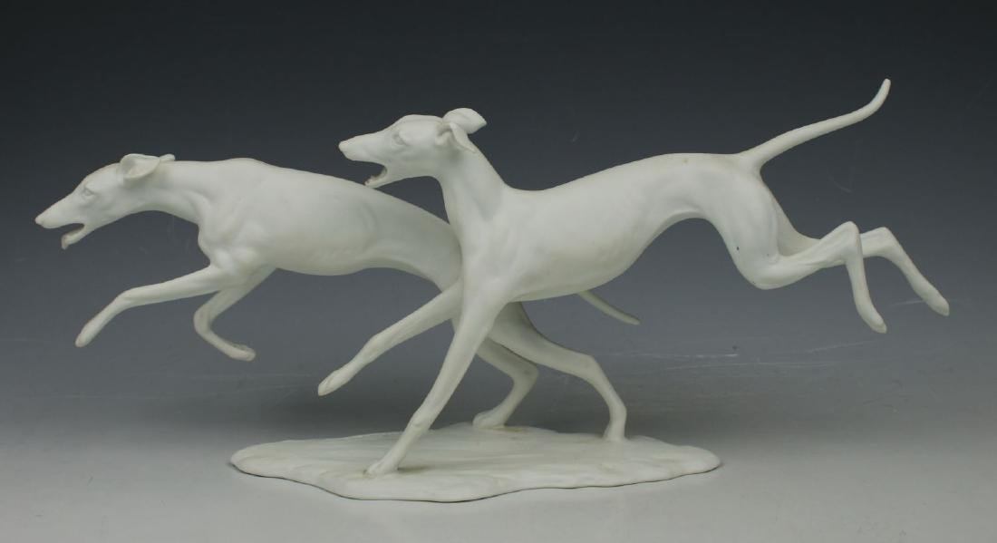 "Kaiser Porcelain figurine ""Running Dogs"""