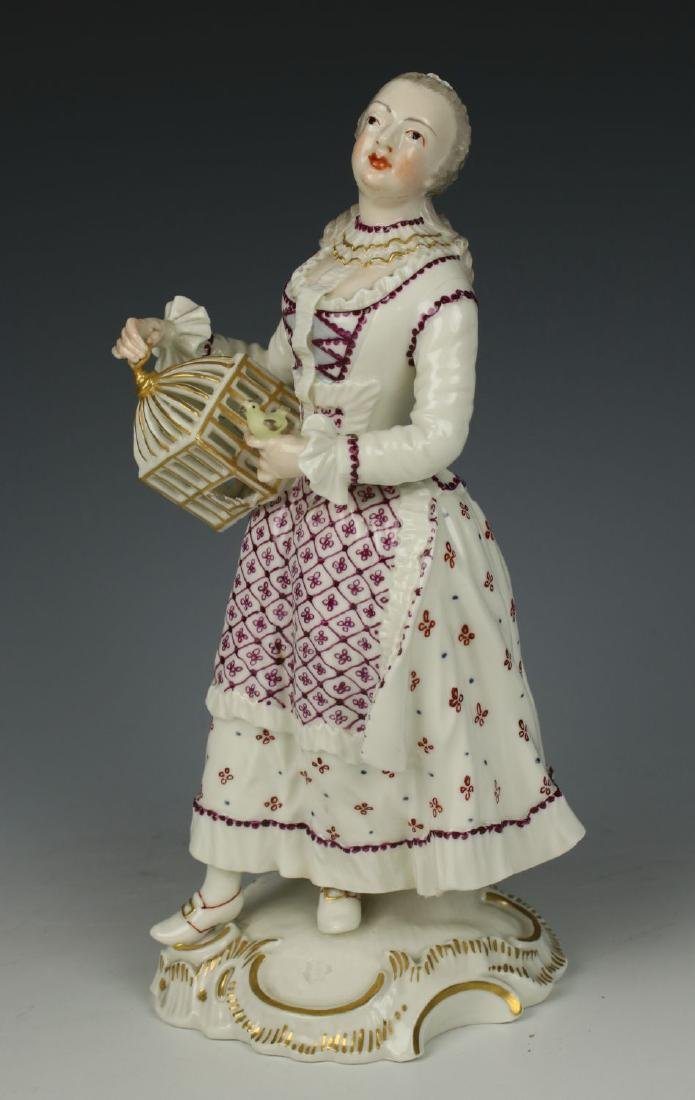 "Nymphenburg figurine ""Lady with Cage"""