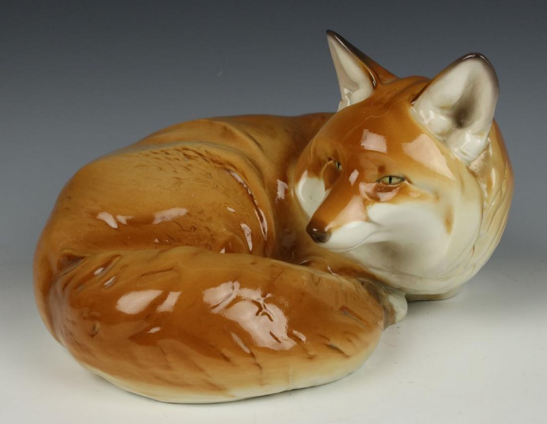 "Nymphenburg Theodor Karner figurine ""Curled Fox"""