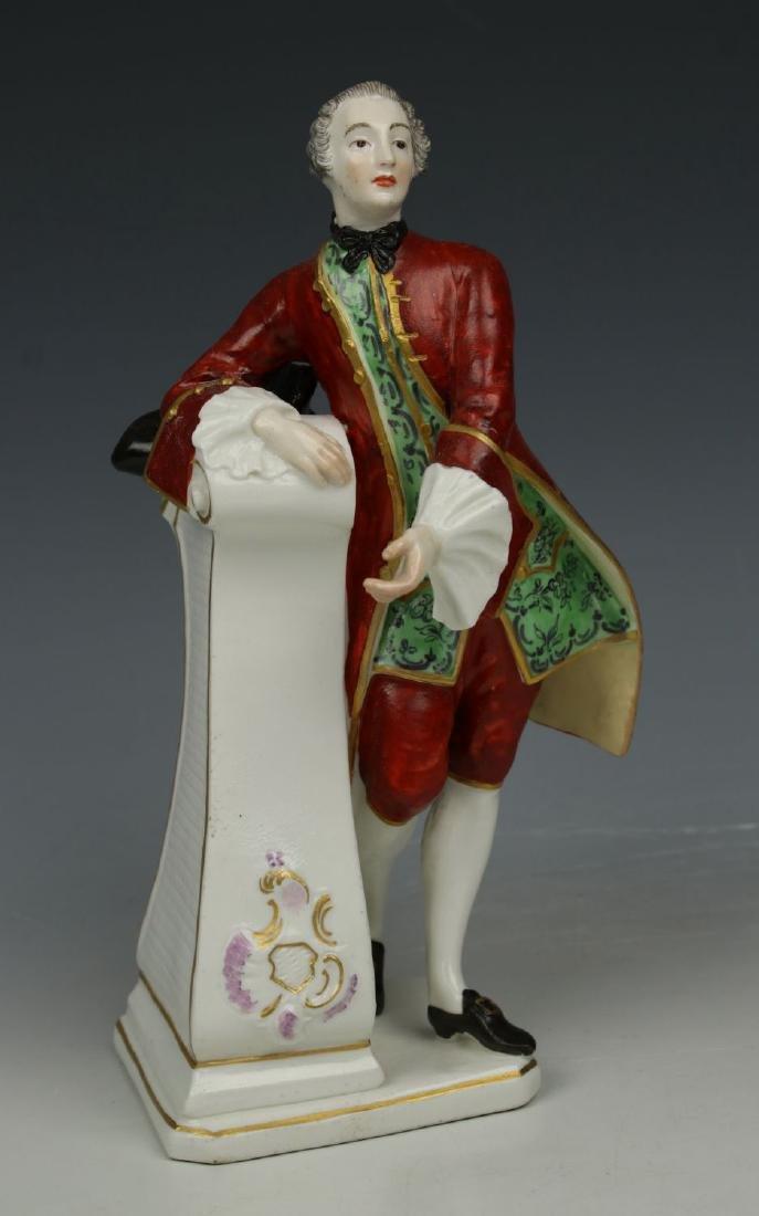 """Antique Nymphenburg figurine """"Gentleman with Hat"""""""