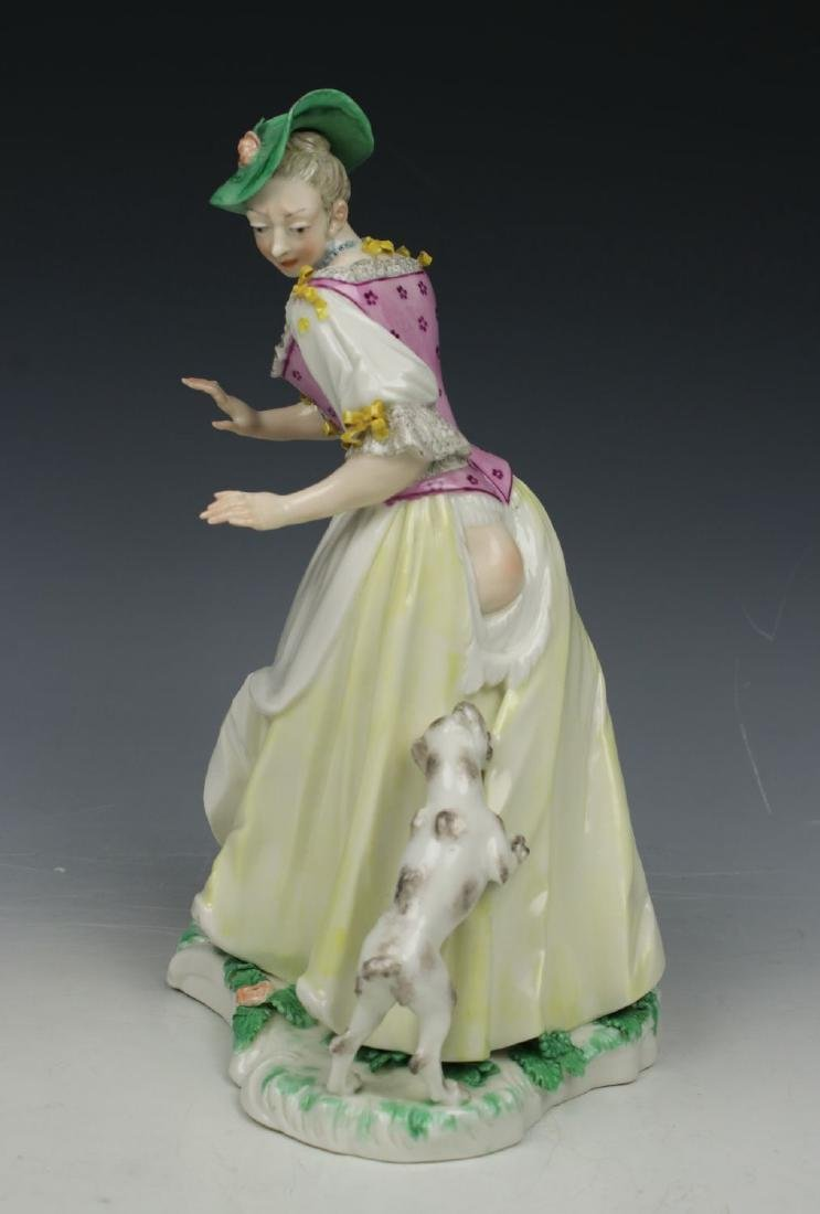 "Nymphenburg Bustelli figurine ""Lady with Dog"""