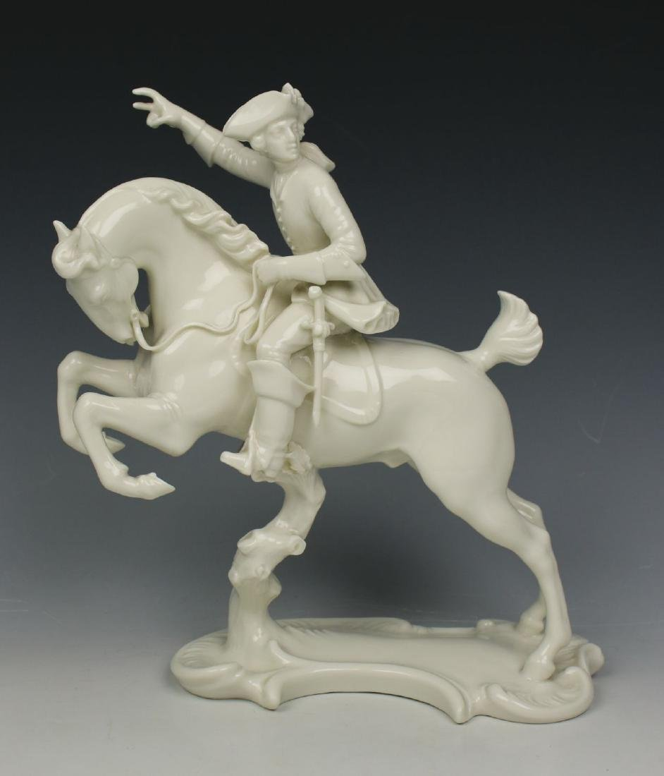 """Nymphenburg figurine """"Hunter on Leaping Horse"""""""