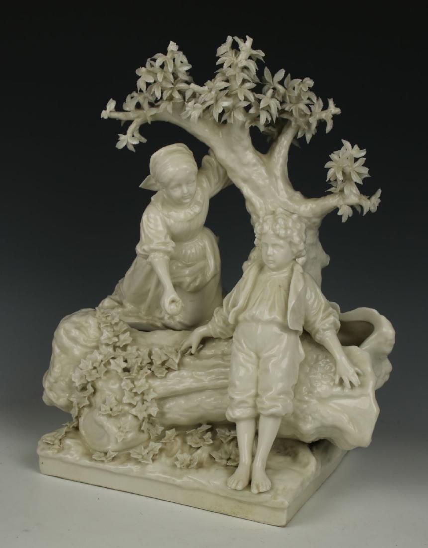 "Dressel Kister Passau Figurine ""Boy and Girl under"