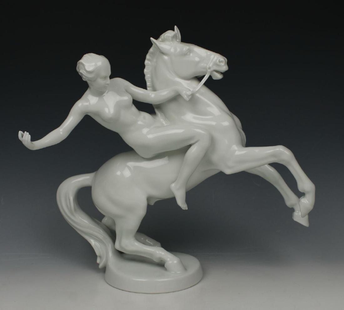 "Rosenthal Figurine ""Amazon on Horse"""