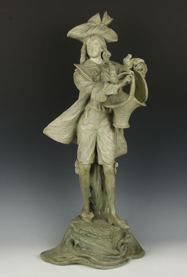 "19"" Amphora Turn Teplitz RSTK terracotta Figurine"