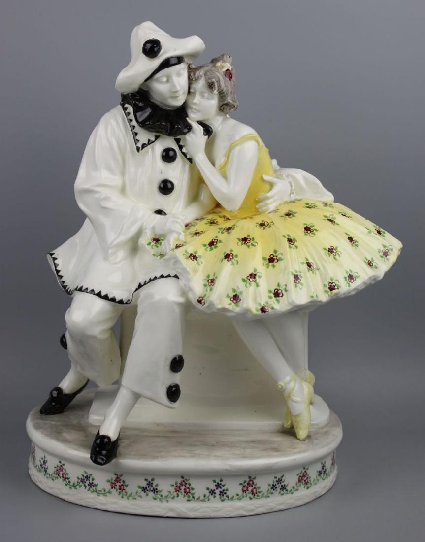 """Goldscheider Wien Figurine """"Pierrot and Pierrette"""""""