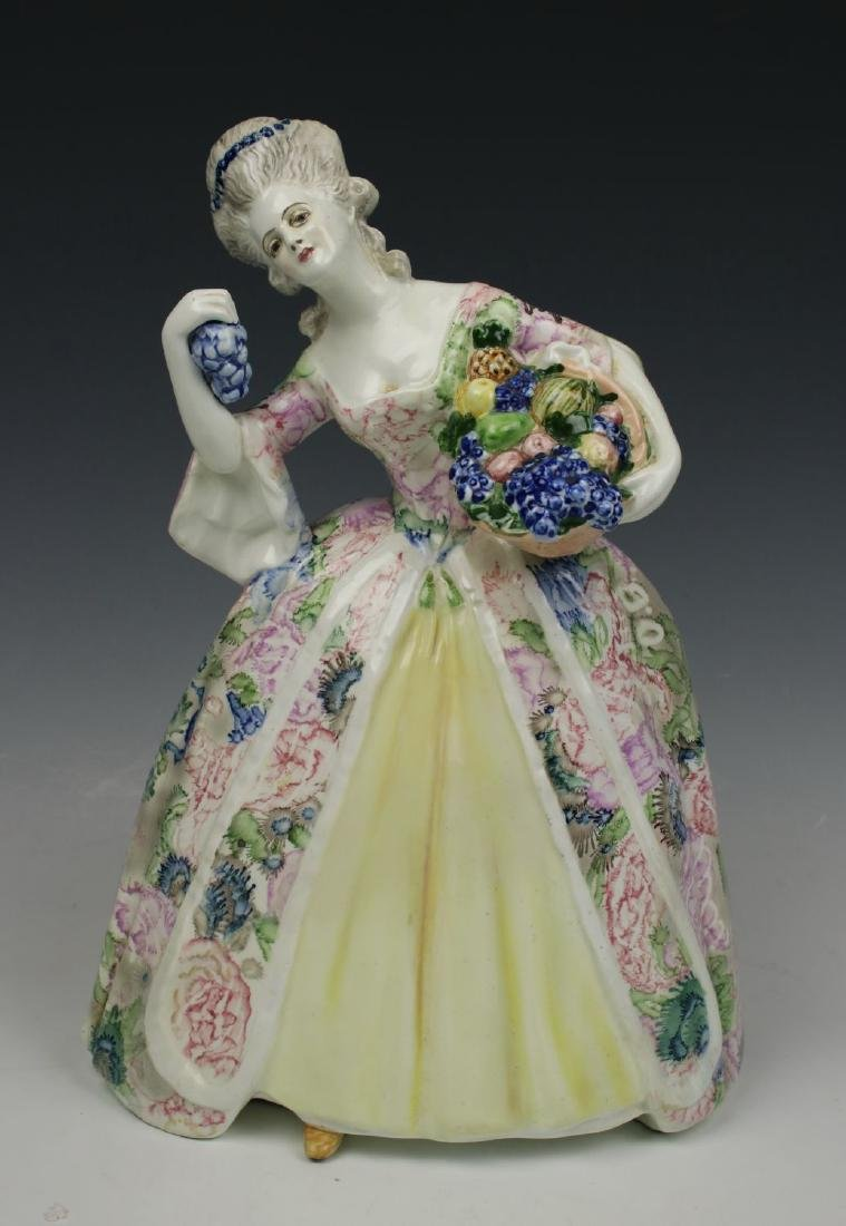 """Goldscheider Wien Figurine """"Lady with Fruits"""""""