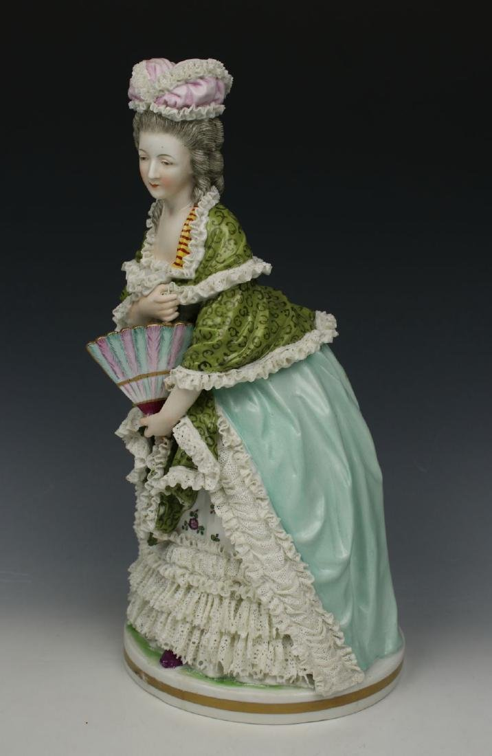 """Royal Vienna lace figurine """"Lady with Fan"""""""